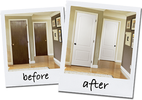 before and after - Interior Doors