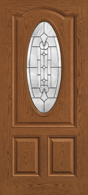 Entry Door Oval Chamber Glass Options